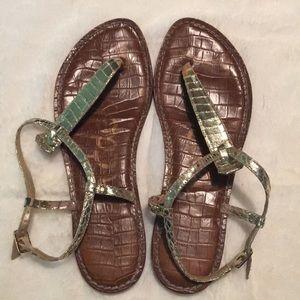 Sam Edelman Gigi gold flat sandal, 7.5
